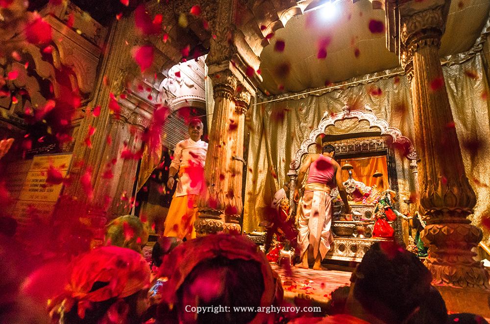 Radha Raman Temple Holi