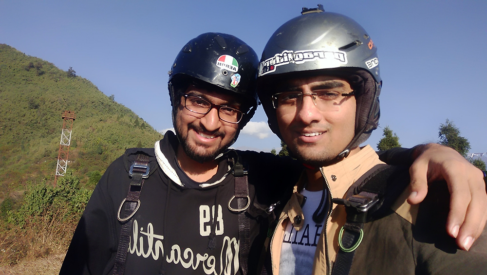 Harshal Varday, paragliding in gangtok.