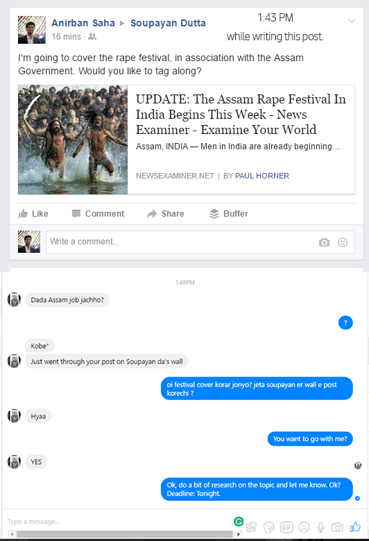 fake news, rape festival india