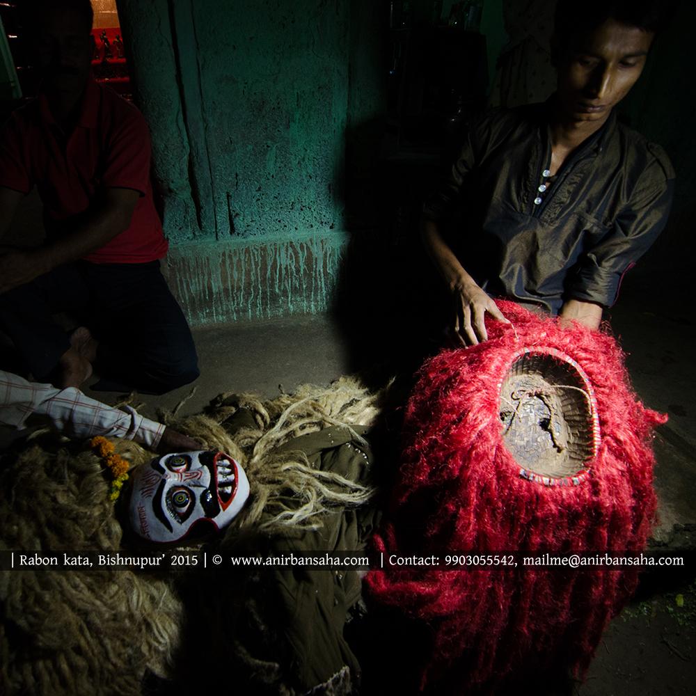 রাবণ কাটা মুখোশ, বাংলার মুখোশ, masks of bengal, bishnupur