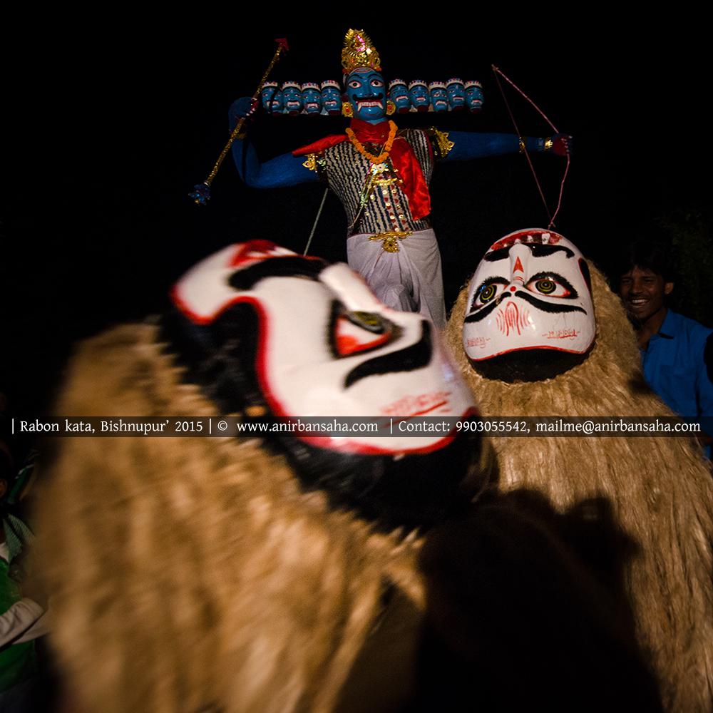 rabon kata masks, ravan kata masks, masks of bengal