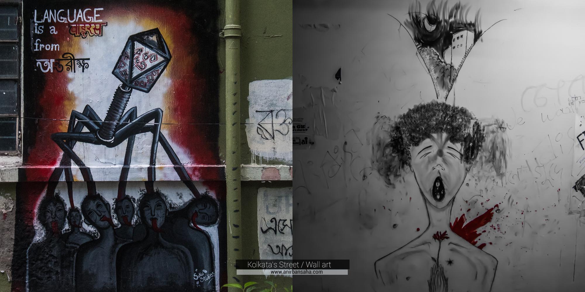 Kolkata Wall Art, Kolkata Graffiti, Kolkata Street Art Festival, Kolkata Street Art