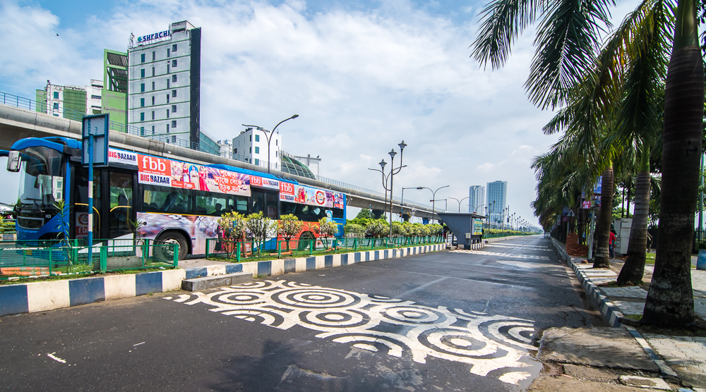 kolkata street art, rajarhat zebra crossing