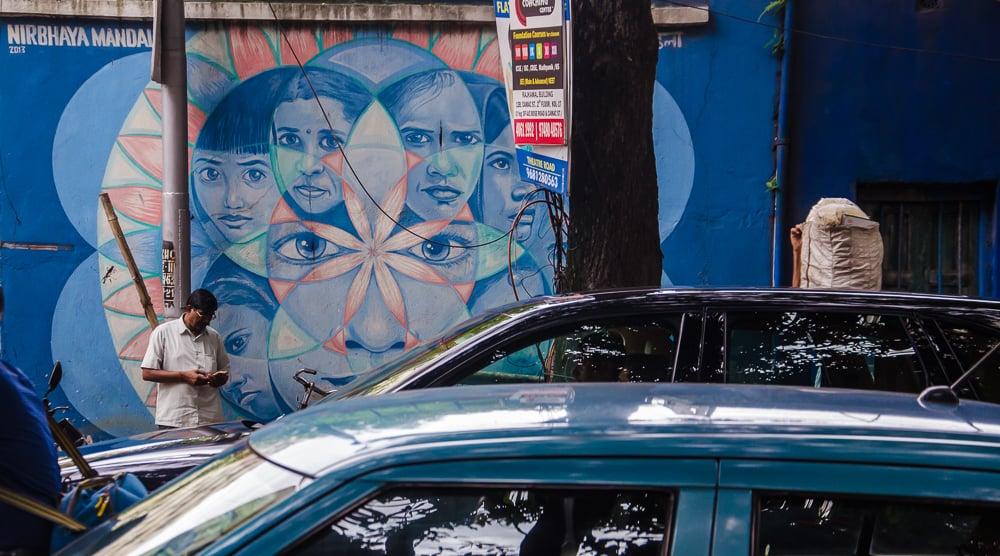 kolkata street art, kolkata street art festival. nirbhaya, la martiniere