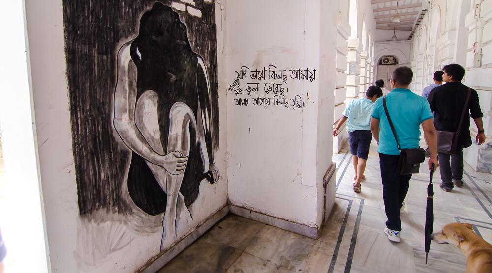Presidency University grafitti, Presidency university wall art