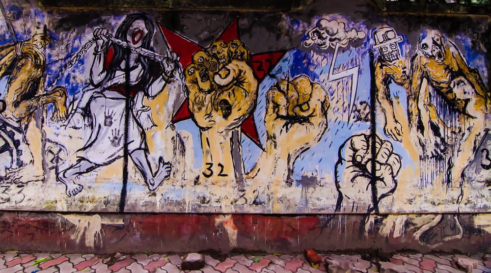 Kolkata grafitti, Kolkata Street Art.