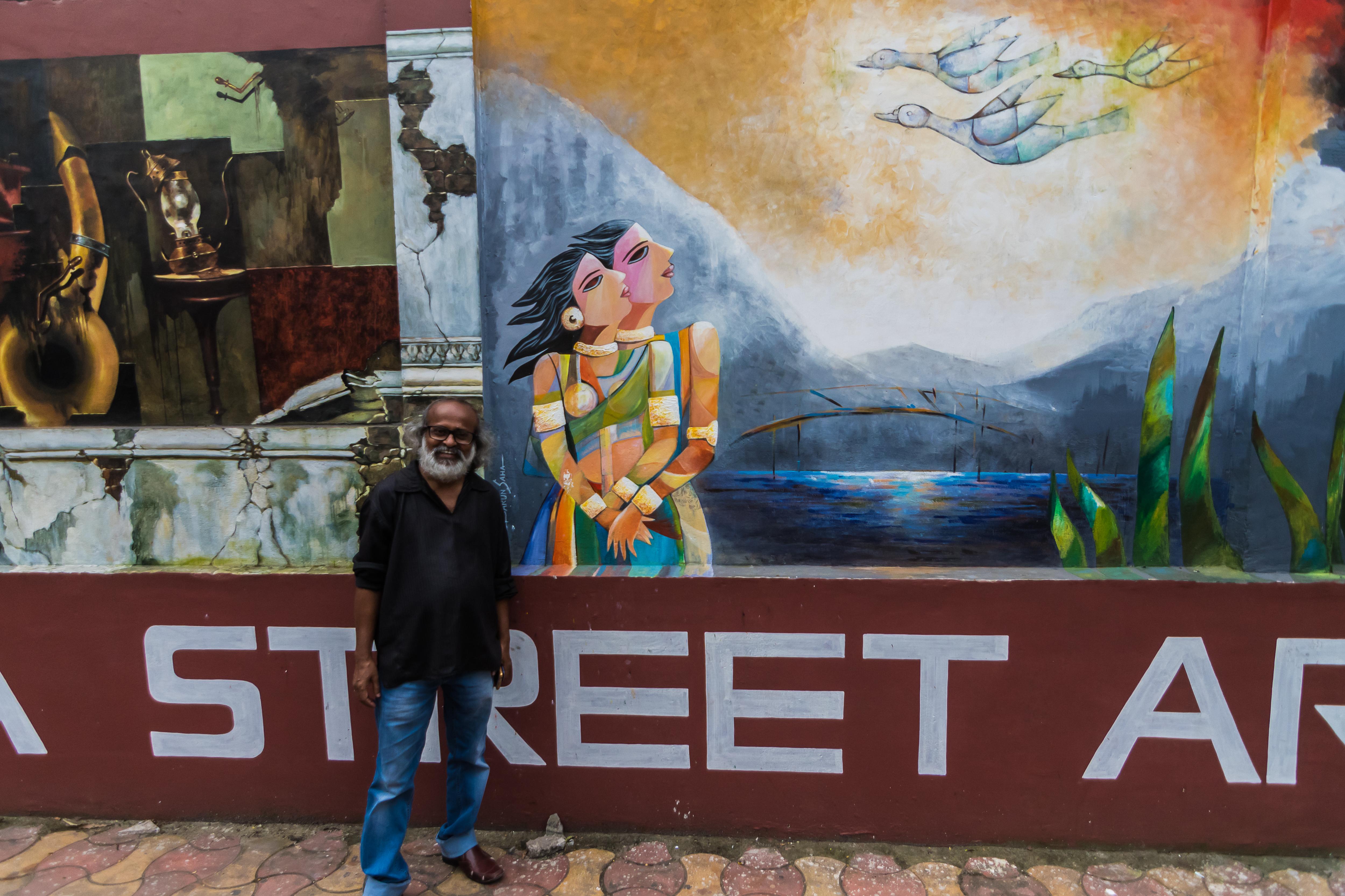 Kolkata Street Art Festival, Barun Saha artist