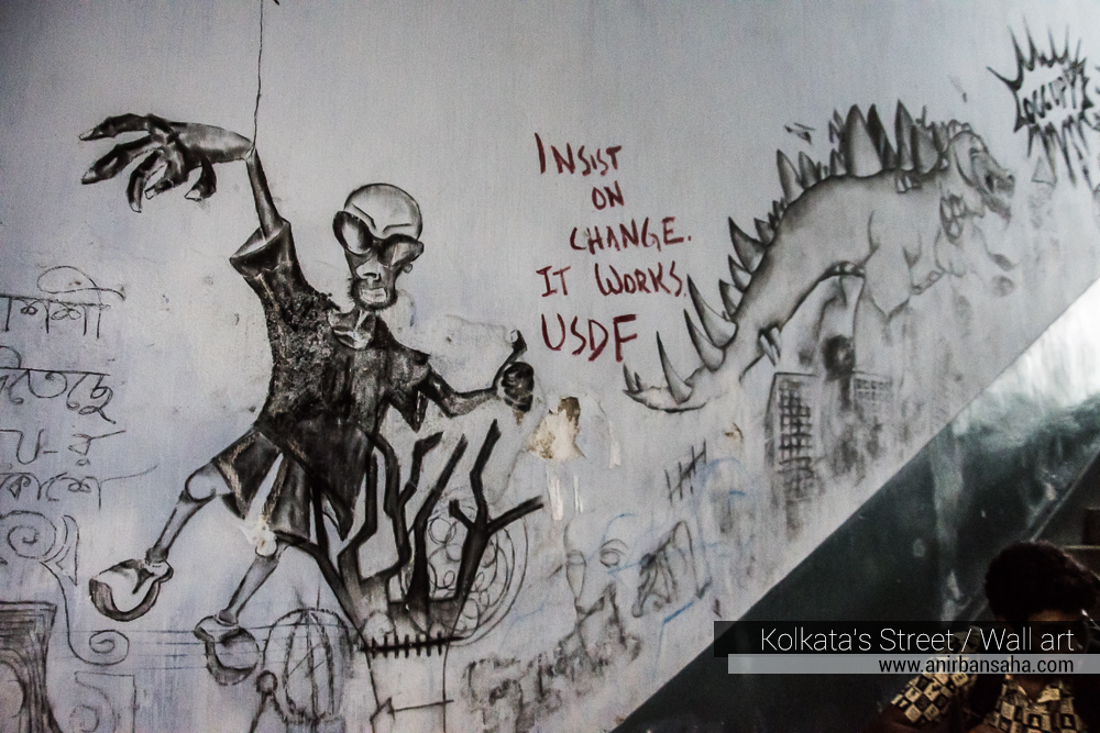 JU grafitti, jadavpur university graffiti, jadavpur university wall art, Kolkata Street Art Festival