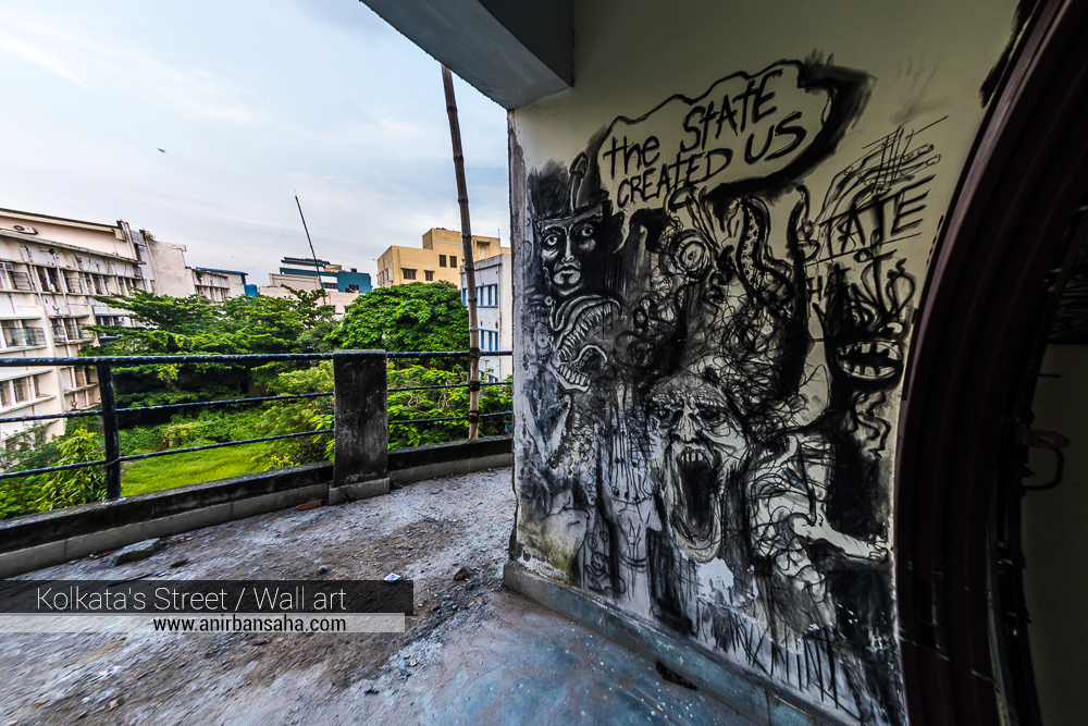 jadavpur grafitti, jadavpur wall painting, jadavpur university