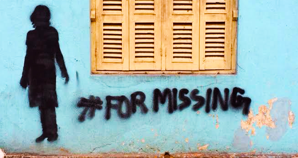 kolkata street art, leena kejriwal, missing project