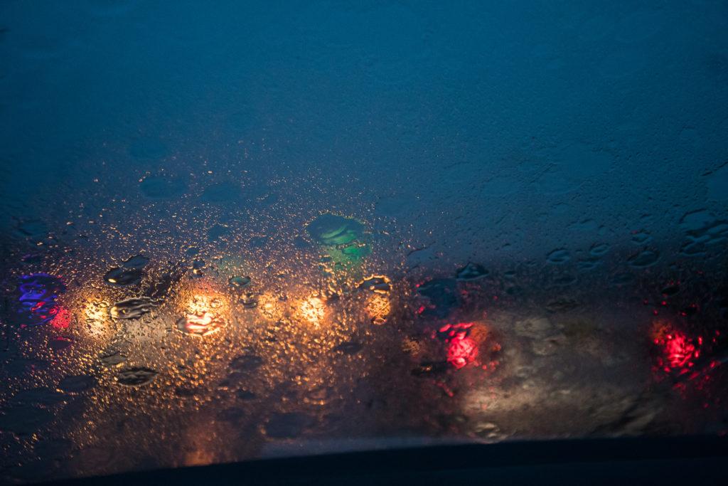 water splash, rain droplets on car