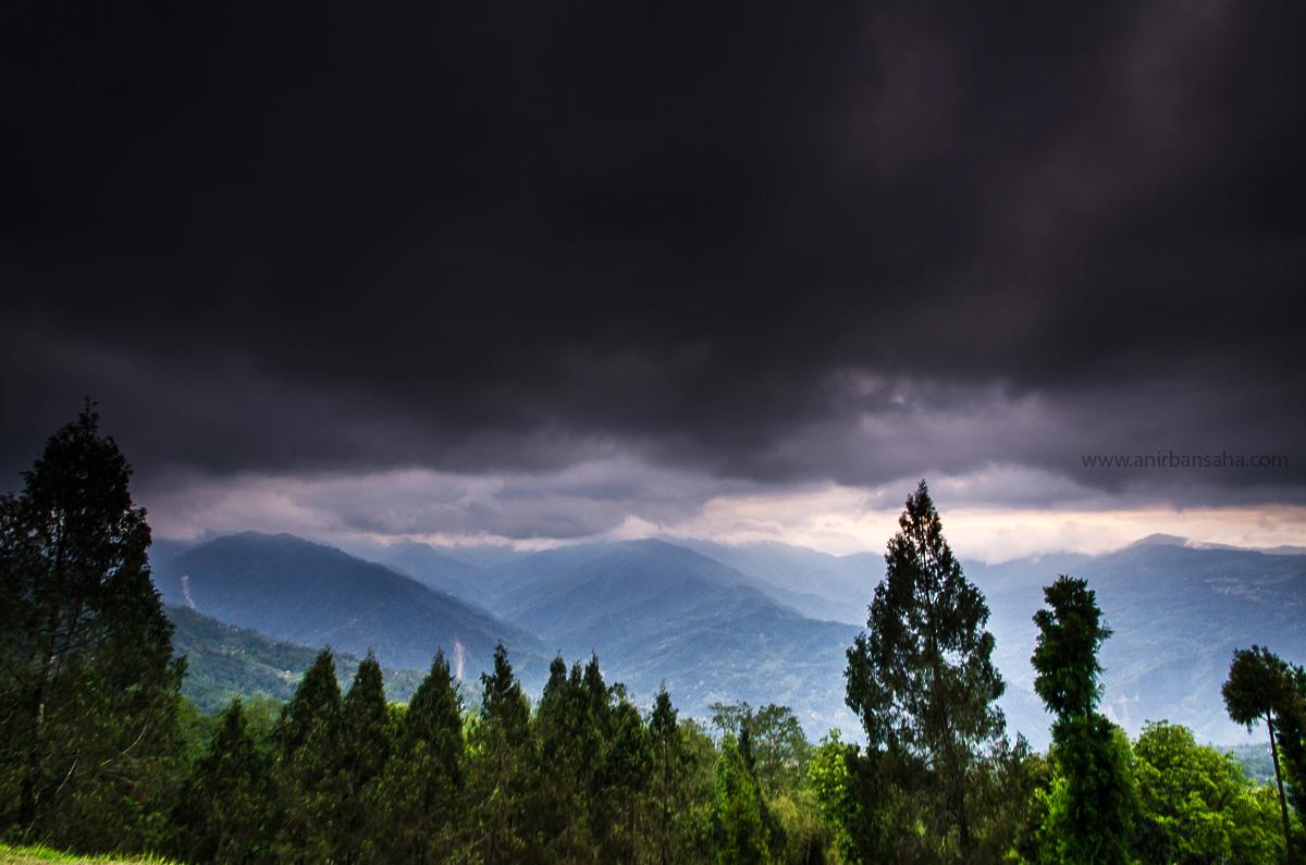 dark clouds, sikkim