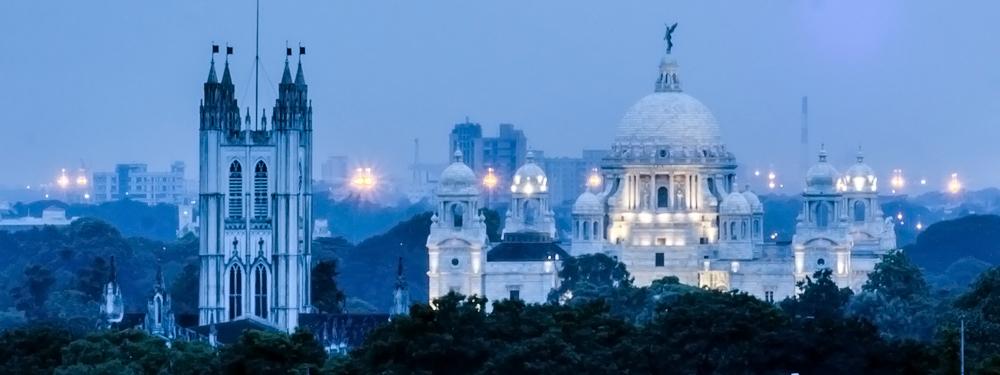 Kolkata, victoria memorial, st pauls cathedral, view from monkey bar kolkata