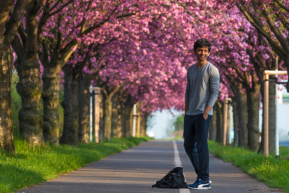 Vinay Kumar Yamalapalli, Holzweg, Magdeburg Cherry Blossoms