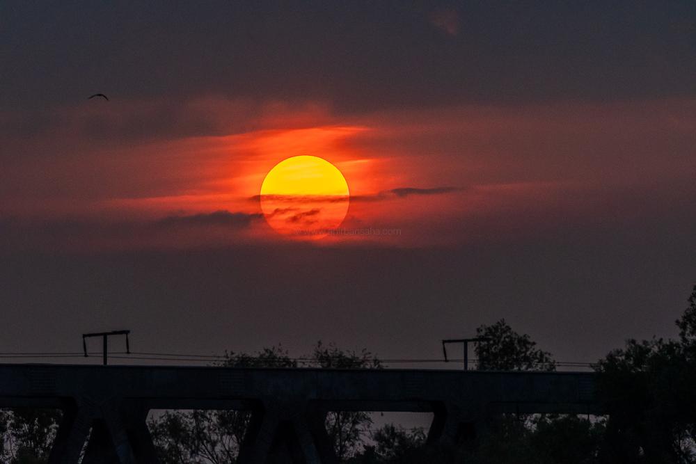 sun rise, magdeburg