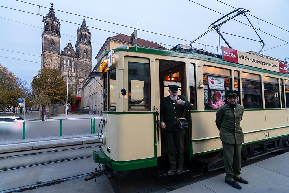 old trams, heritage trams in magdeburg