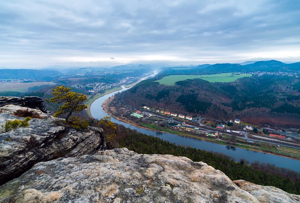 The view from the top of Lilienstein.
