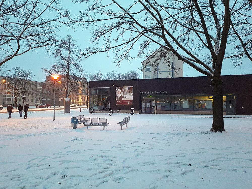 snow in magdeburg unviersity